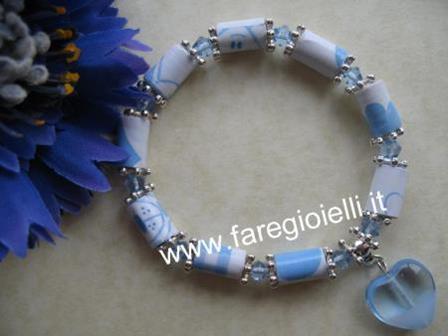 braccialetto-realizzato con carta da regalo