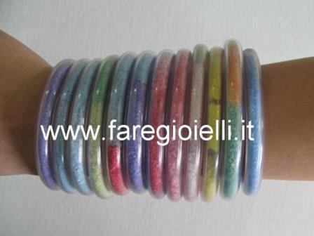 braccialetti con plastica e sale