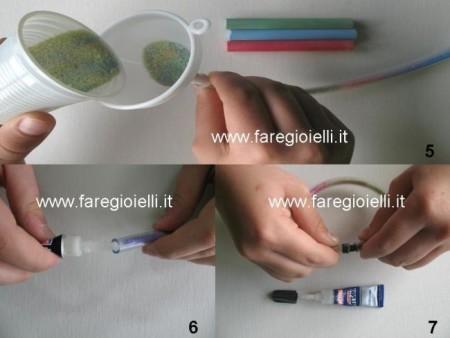 tutorial braccialetti con tubicini per acquari riempiti di sale