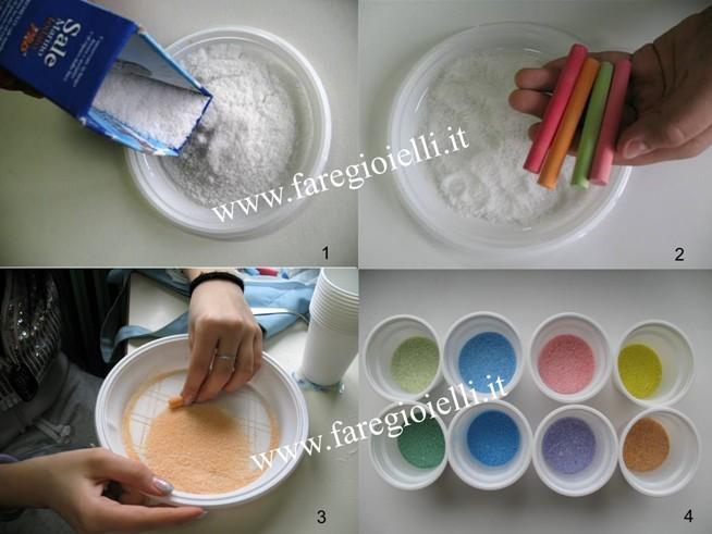 Sale colorato fai da te | colorare il sale grosso ...