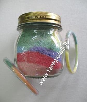 vasetto con sale colorato