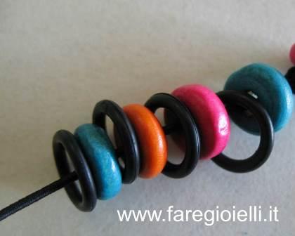 o ring e perle di legno come fare bracciali