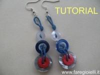 riciclo creativo orecchini con bottoni