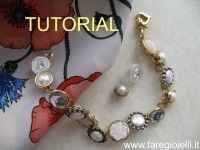 tutorial come fare braccialetti con bottoni