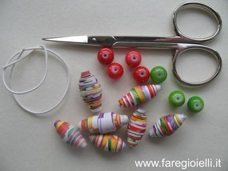 come fare braccialetti di carta riciclata