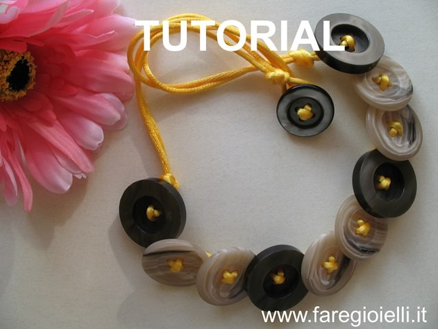 come fare gioielli con bottoni-tutorial