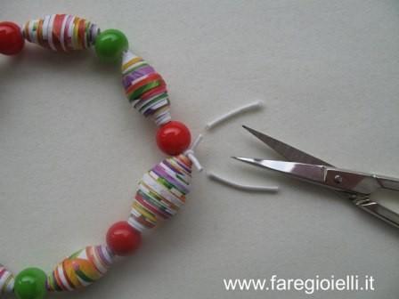 tutorial braccialetti di carta con elastici