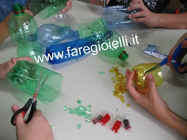 Super Riciclo Creativo Bottiglie Di Plastica: Orecchini | Gioielli Fai  YW03