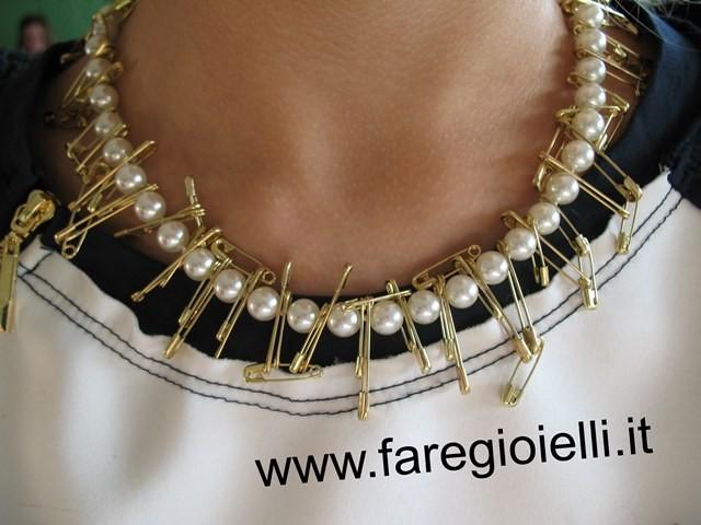 come riciclare una collana di perle