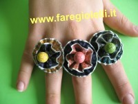 riciclo creativo cialde anelli-sara