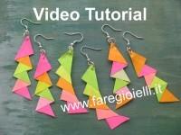 Orecchini Di Carta Origami  VideoTutorial