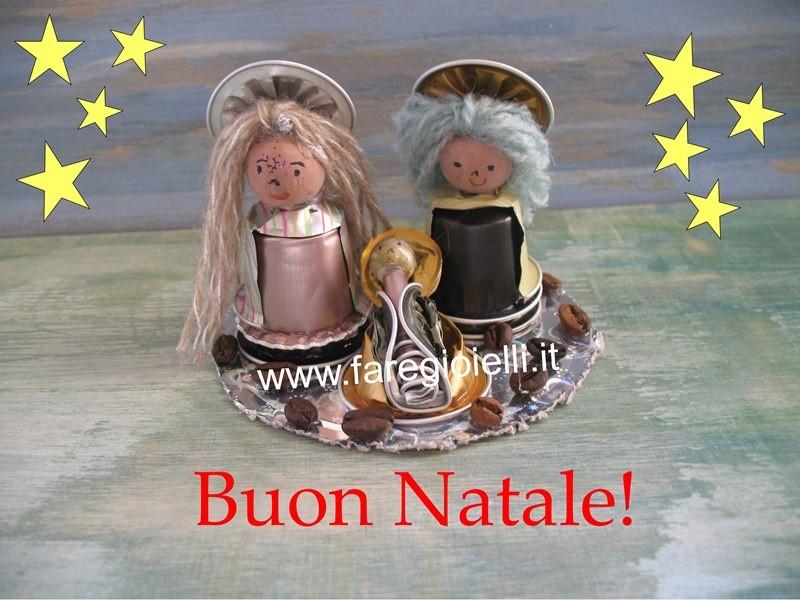 Lavoretti Di Natale Con Cialde Nespresso.Presepe Fai Da Te Con Cialde Nespresso Gioielli Fai Da Te