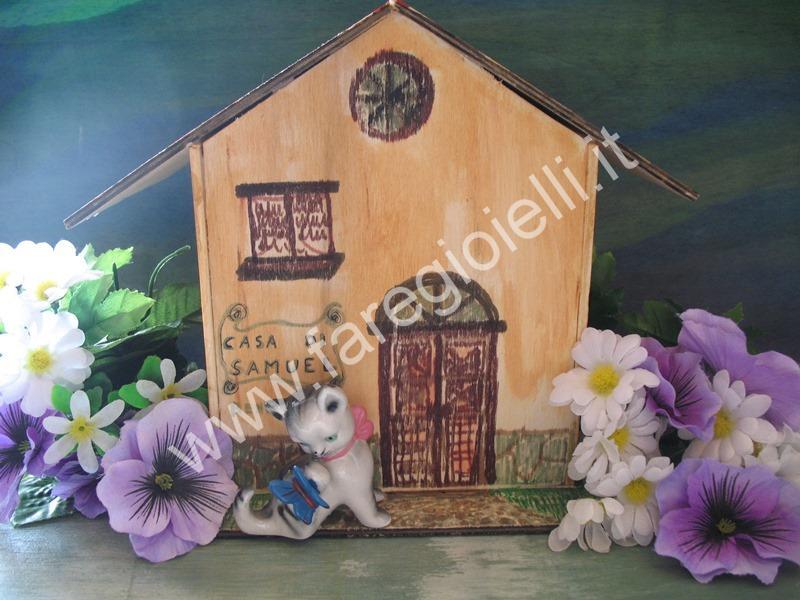 Casetta Di Natale Da Colorare : Tutorial casette di legno compensato gioielli fai da te e frasi