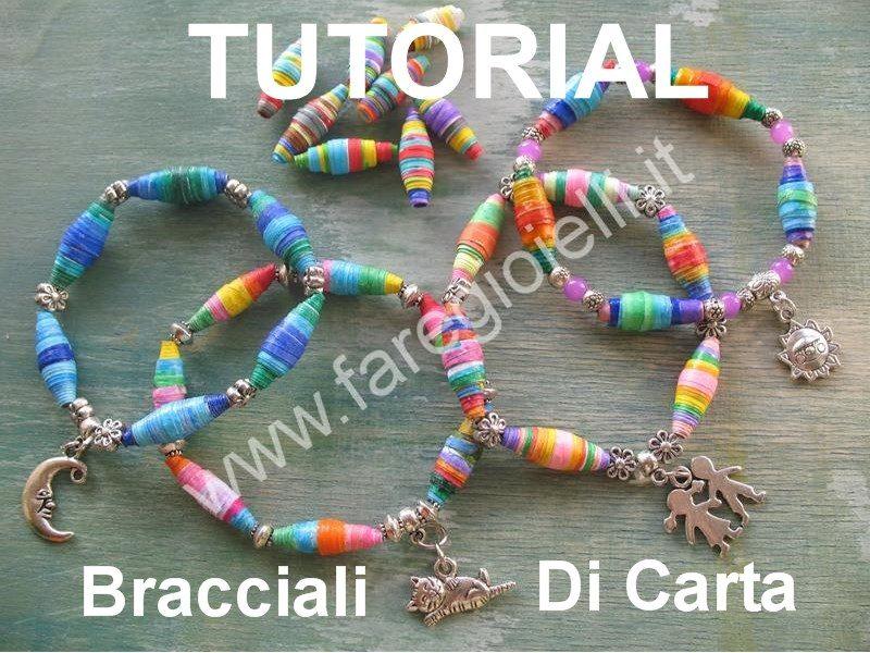 Idee con la carta come fare bracciali di perle gioielli for Come creare i miei progetti personali