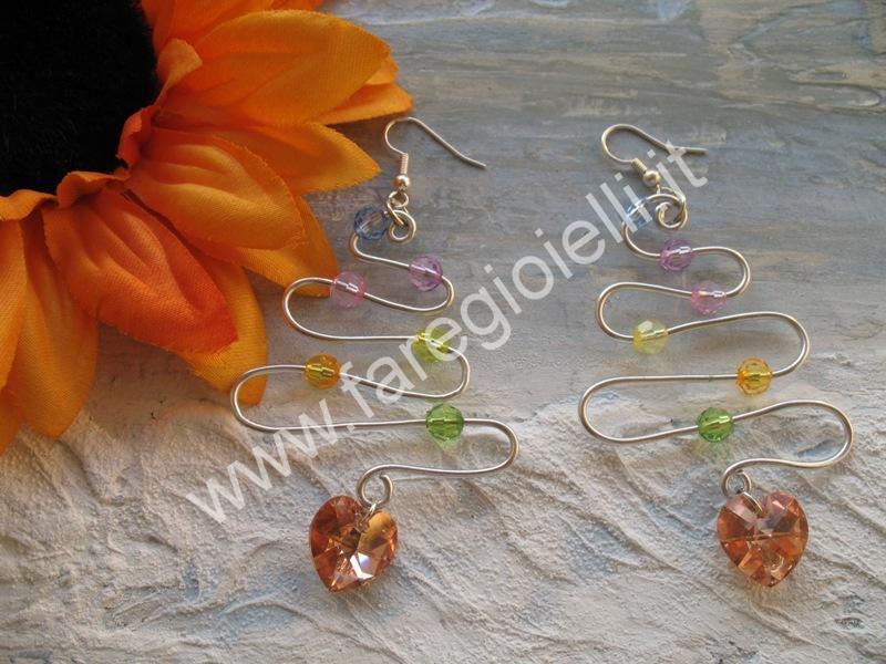 tutorial orecchini con fili metallici-16