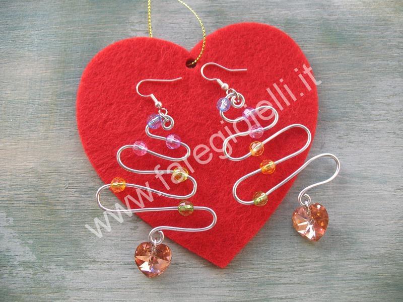 utorial orecchini con fili metallici-13