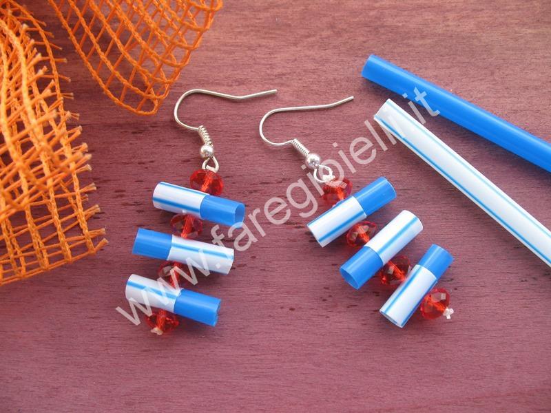 Molto Tutorial Orecchini Con Cannucce Di Plastica | Gioielli Fai Da Te e  TU12