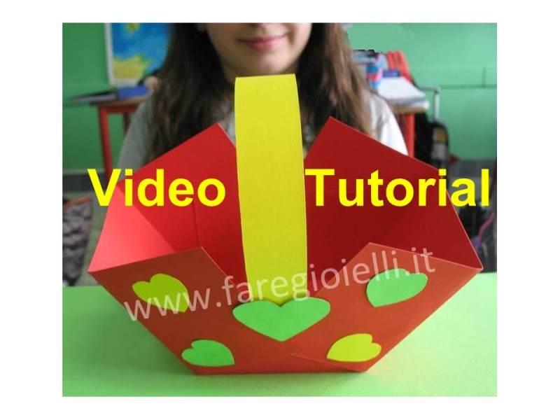Idee Di Carta. Video Tutorial Cestini Di Carta