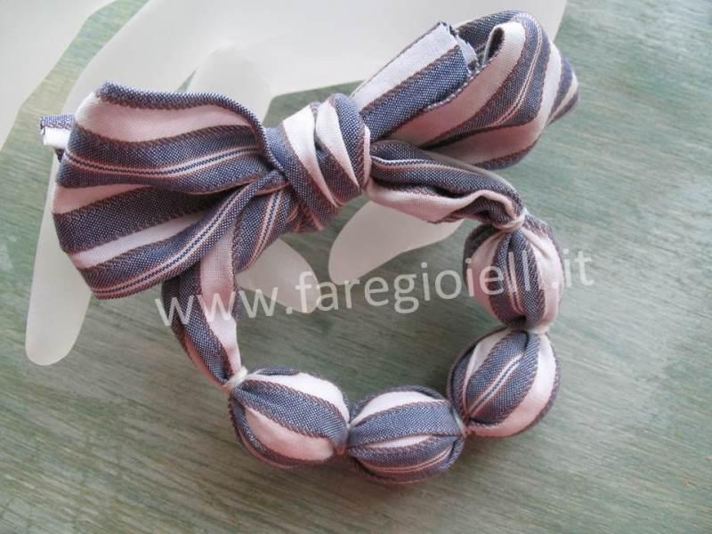 Idee riciclo bracciali di stoffa fai da te gioielli for Idee riciclo fai da te