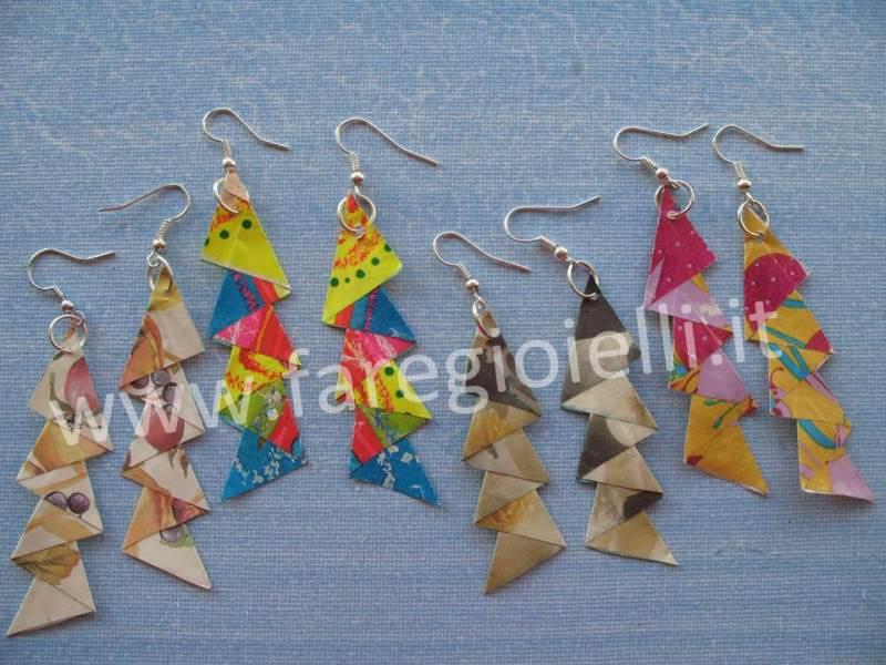 Orecchini Di Carta Fai Da Te Con Origami