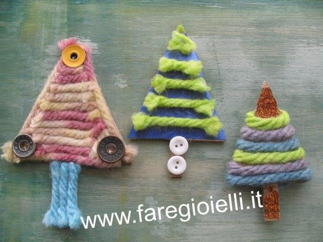 Favorito Lavori Di Natale- Alberi Con Materiale Riciclato | Gioielli Fai Da  PM53