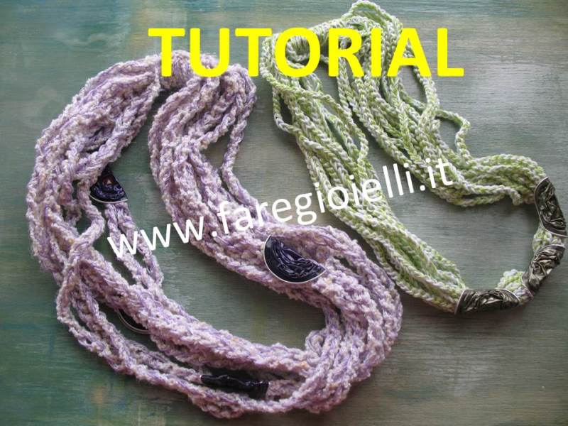 Come fare collane all uncinetto e cialde gioielli fai da for Fai da te creazioni