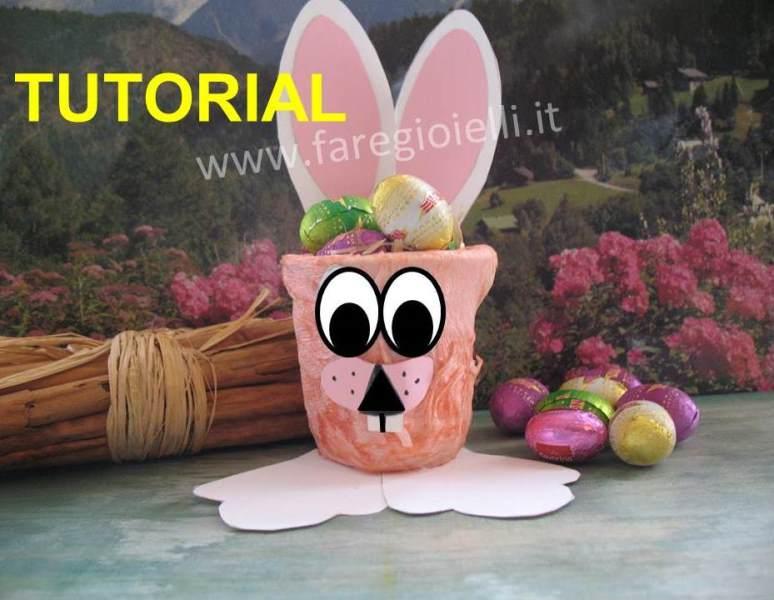 Idee Per Pasqua: Coniglio Porta Ovetti.