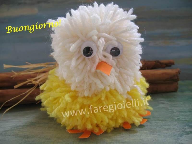 Idee Per Pasqua: Pulcini Con Pon Pon di Lana