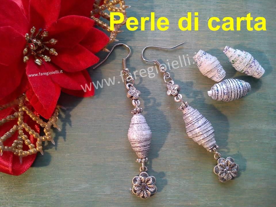 Tutorial Orecchini Per Natale Con Perle Di Carta