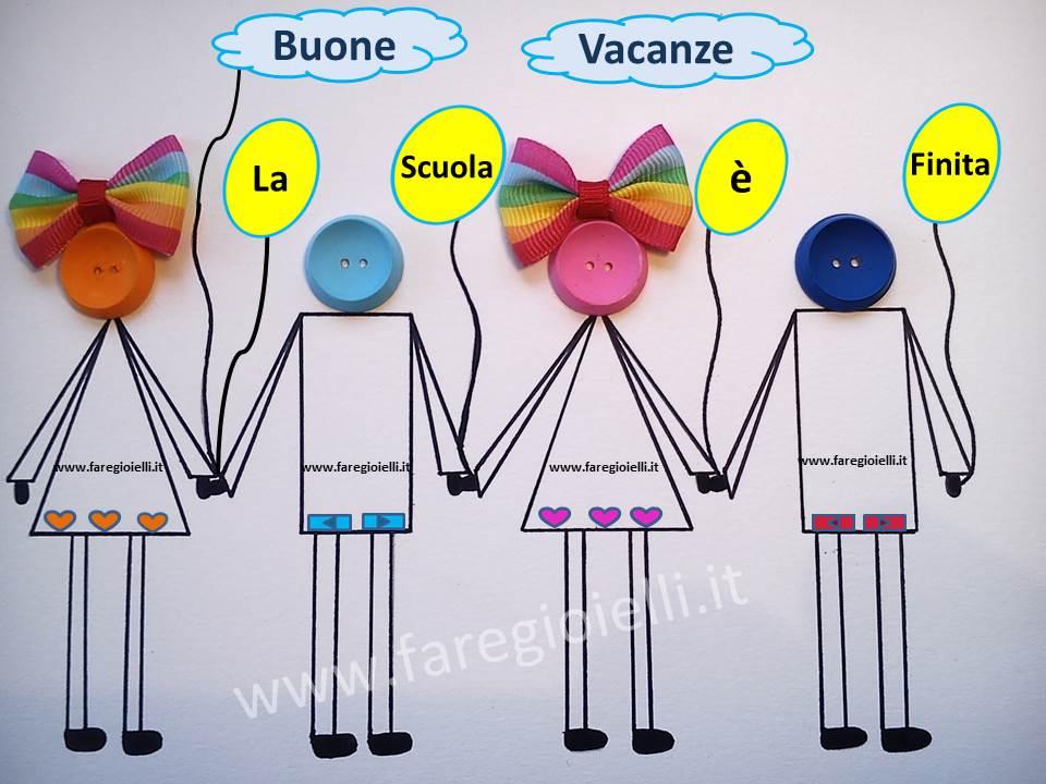 Idee Creative Con Bottoni. Buone Vacanze!
